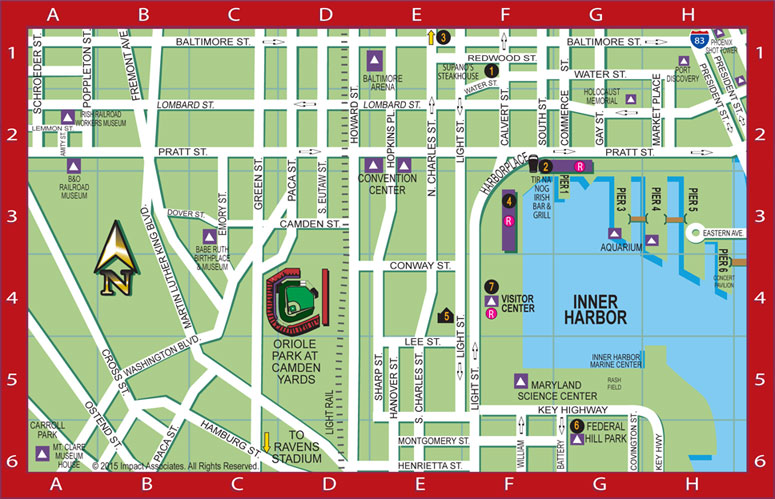Baltimore Harbor Guide S Inner Map Featuring The Locations Of Our Bhg Local Favorites Including Restaurants
