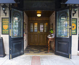 Image of Welcoming Front Entrance to James Joyce Irish Pub & Restaurant on President Street in Harbor East Baltimore MD