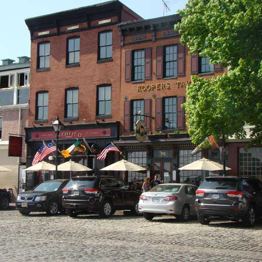 Koopers Tavern on Thames Street in Fell's Point, Baltimore MD