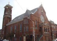 Image of historic Saint Leo's Catholic Church, established in 1881 in Little Italy, Baltimore, MD